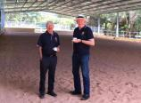 Phil and Peter inspect the new facility
